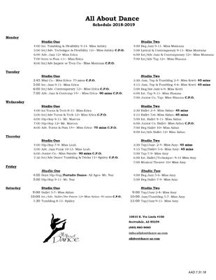 2017-2018-AAD-Schedule